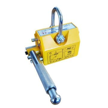 300kgs LIFTING MAGNET HOIST - PERMANENT MAGNETIC LIFTER - CE / BVQI APPROVED